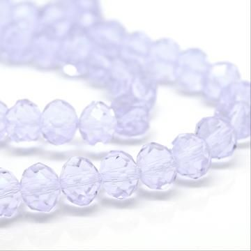 Lilac Faceted Rondelle Bead