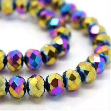 Metallic Vitrail Faceted Rondelle Bead