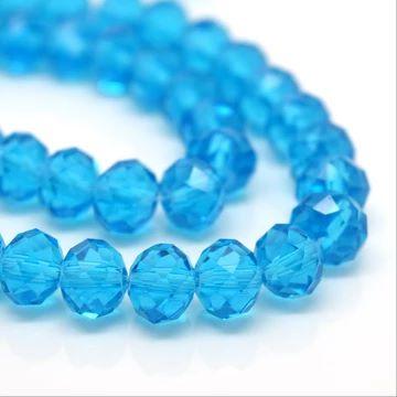 Aquamarine Faceted Rondelle Bead