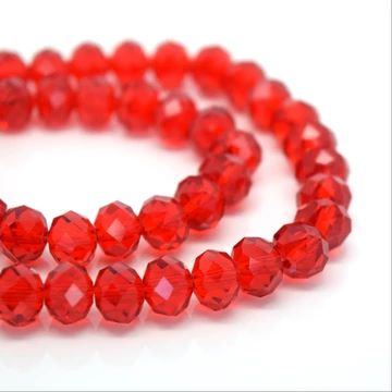 Light Siam Faceted Rondelle Bead