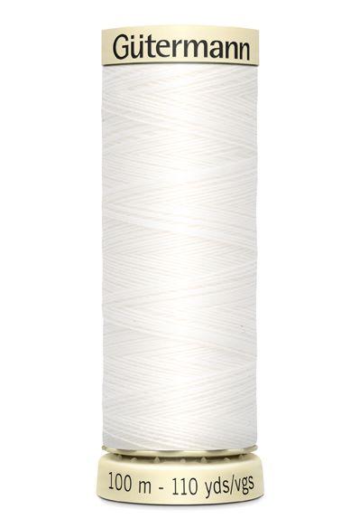 Gütermann Sew All Thread - White - 800