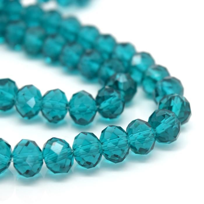 Turquoise Faceted Rondelle Bead - From £1.50 per string