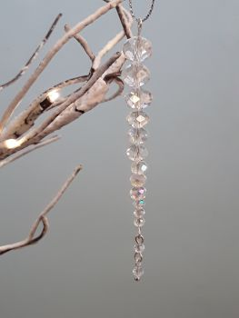 Clear Crystal Icicle Christmas Tree Decoration