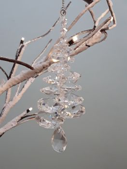 Clear Crystal Tree Decoration
