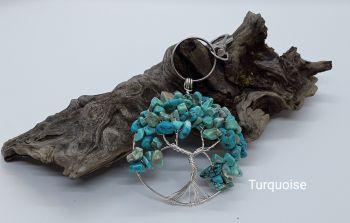 Turquoise Tree Of Life Bag Charm/Keyring