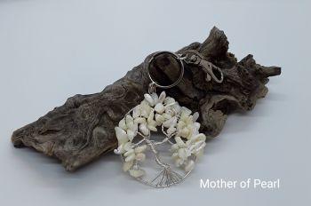 Mother Of Pearl Tree Of Life Bag Charm/Keyring