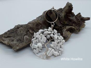 White Howlite Tree Of Life Bag Charm/Keyring