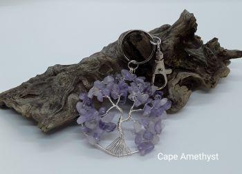 Cape Amethyst Tree Of Life Bag Charm/Keyring