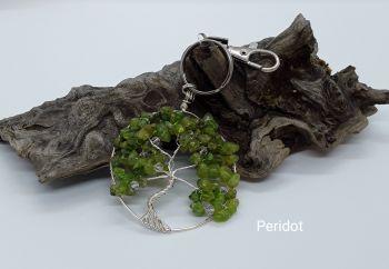 Peridot Tree Of Life Bag Charm/Keyring
