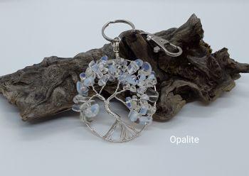 Opalite Tree Of Life Bag Charm/Keyring