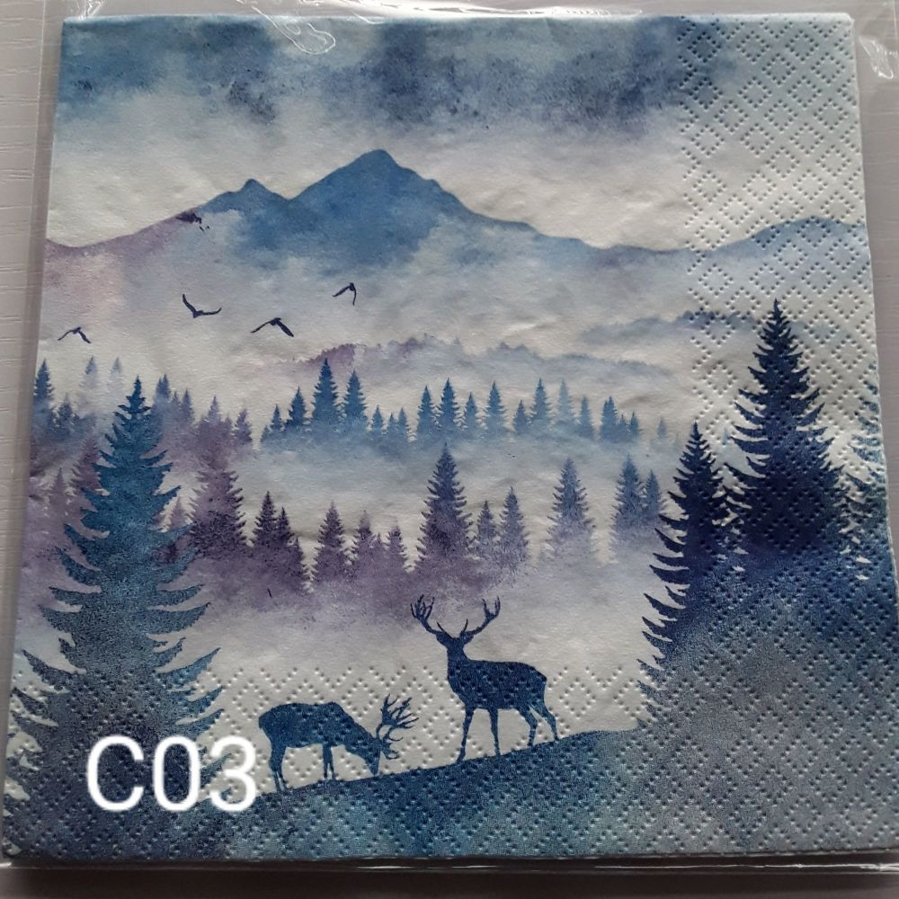 C03 - Stag & Tree Silhouette