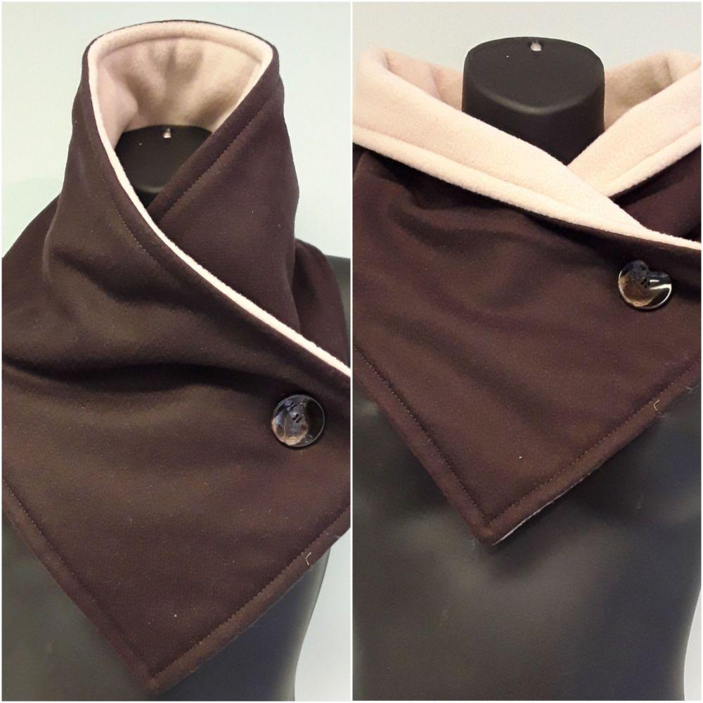 Chocolate Brown Woollen Neck Warmer
