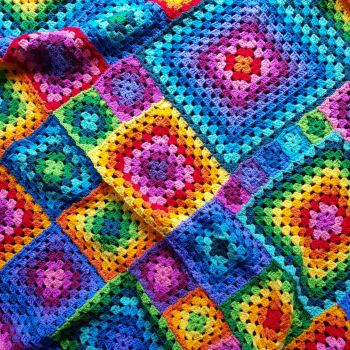 Rainbow Granny Blanket Pattern