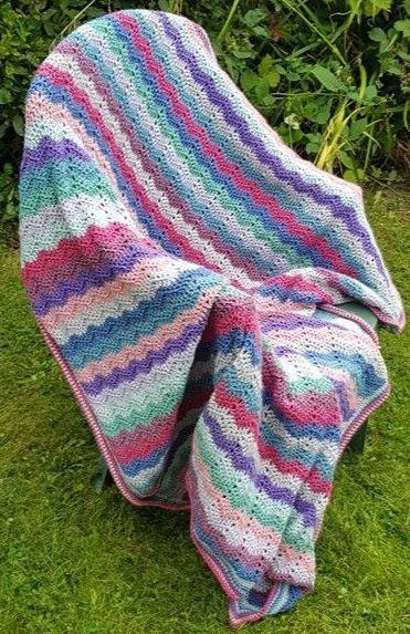 Vintage Ripple Blanket Pattern