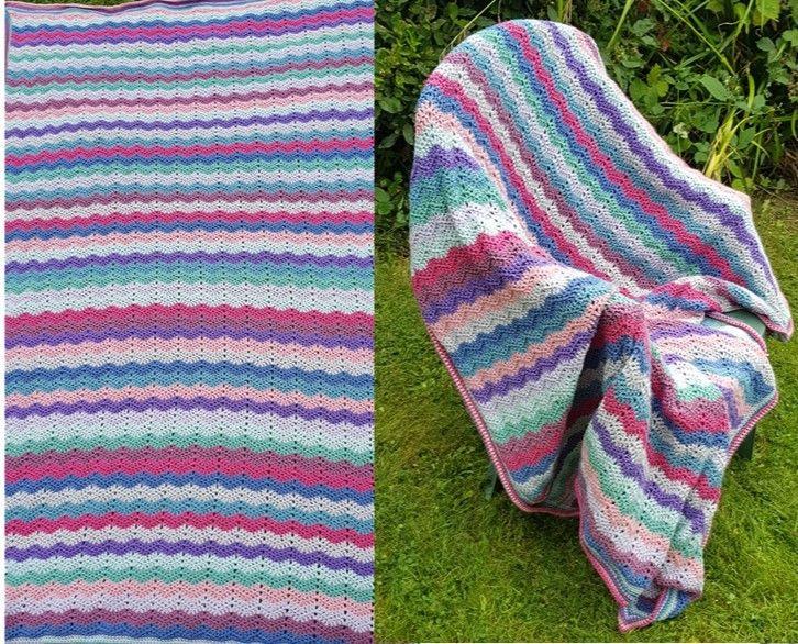 Vintage Ripple blanket picture 2