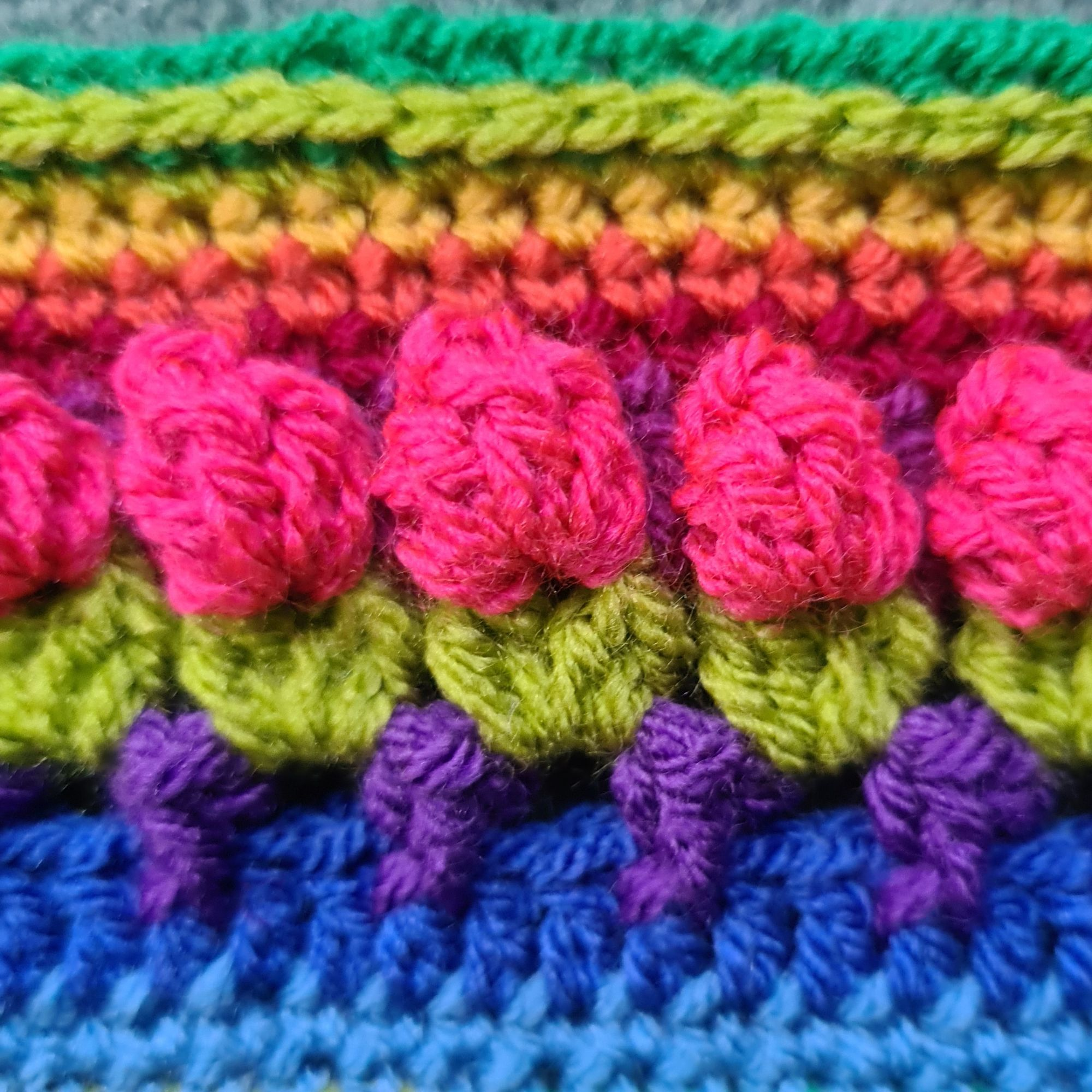 Diana Bensted - Crochet masterclass 10 tulip border