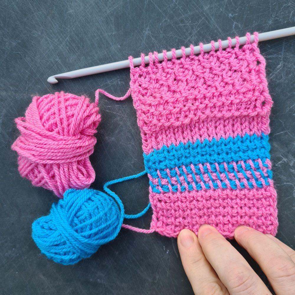 Fibre Block Party - Tunisian Crochet - basics and beyond