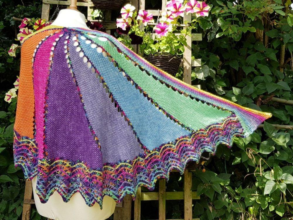Marazion shawl pattern - digital download