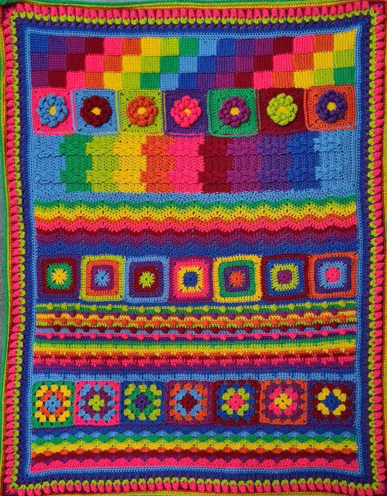 Diana Bensted - Crochet Masterclass complete blanket