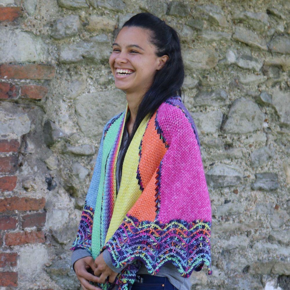 Marazion shawl pattern - Paper pattern