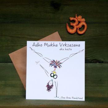 Adho Mukha Vrksasana - Eka Hasta