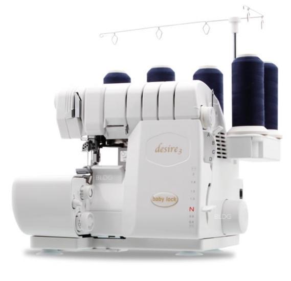 baby lock Desire 3 combination overlocker and cover stitch machines
