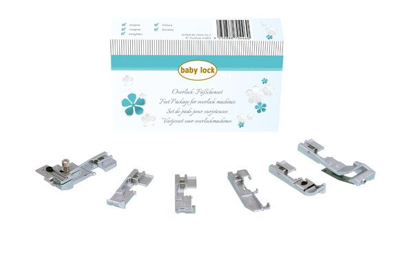 baby lock foot set for overlockers