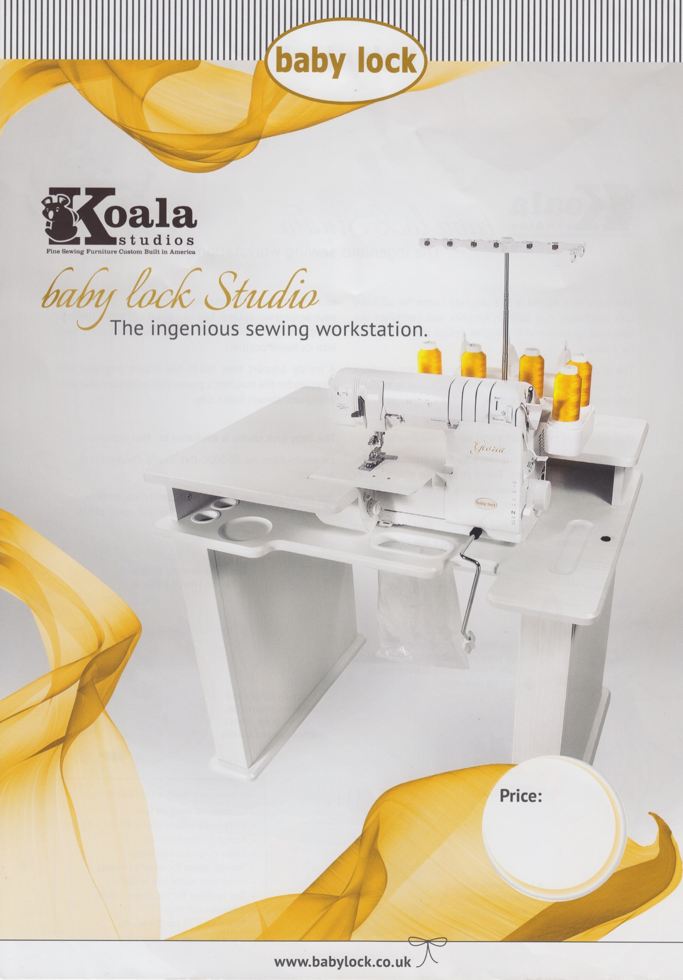 baby lock Koala studio work station