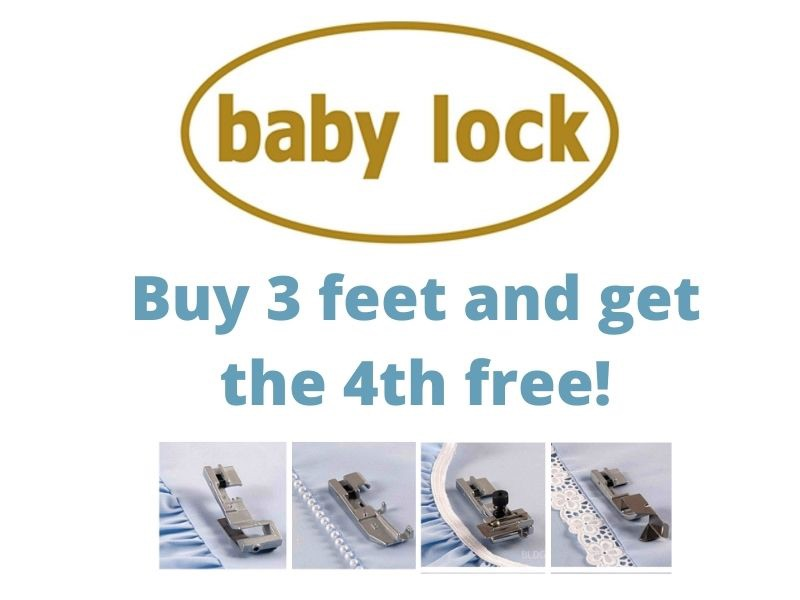 baby lock special offer buy 3 feet get the 4th free