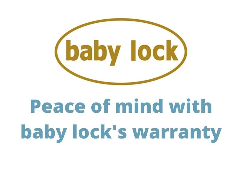 peace of mind with baby lock's warranty - register your machine to extend 2 years to 4