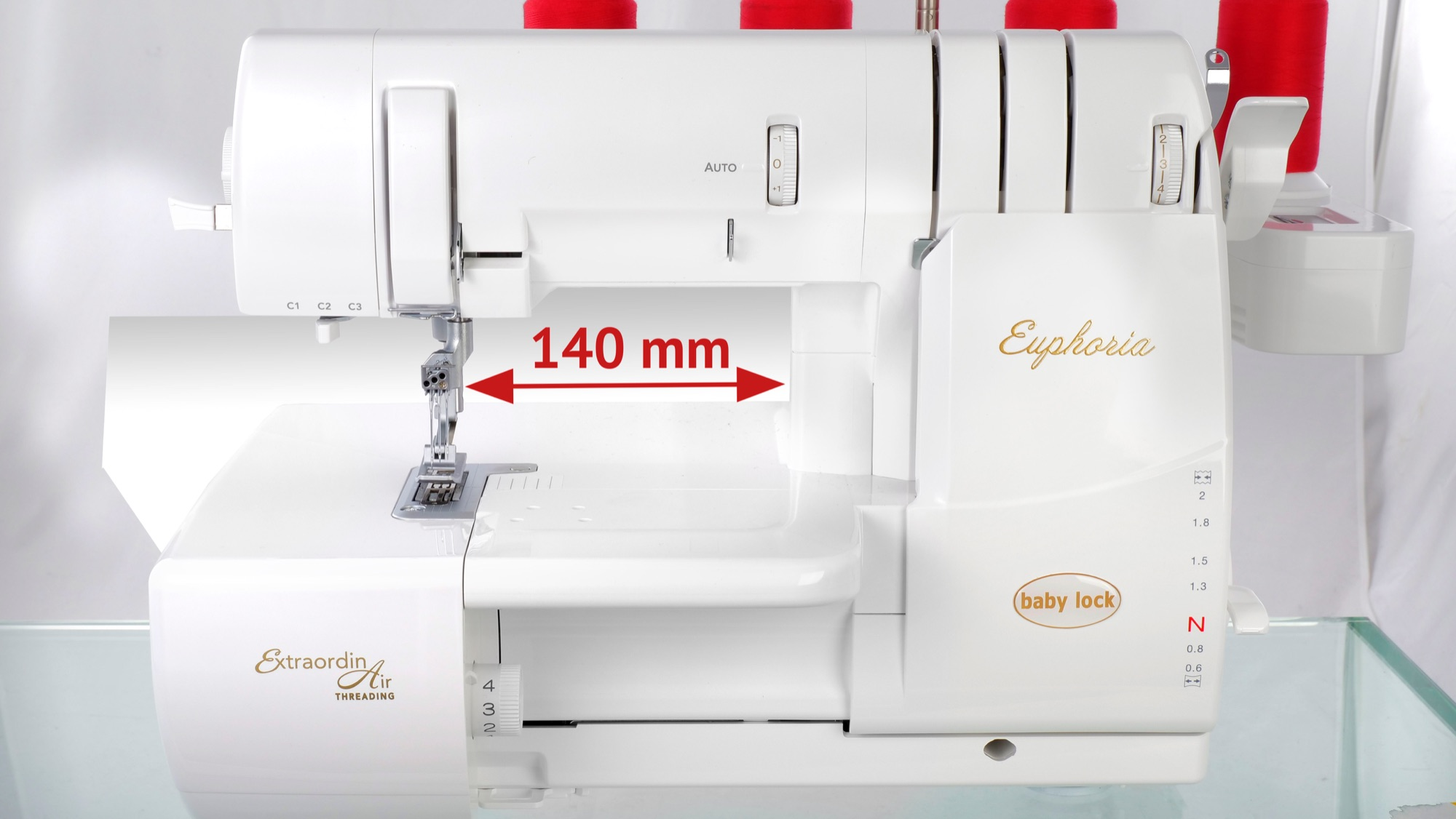 baby lock Euphoria cover stitch machine wider throat for larger projects