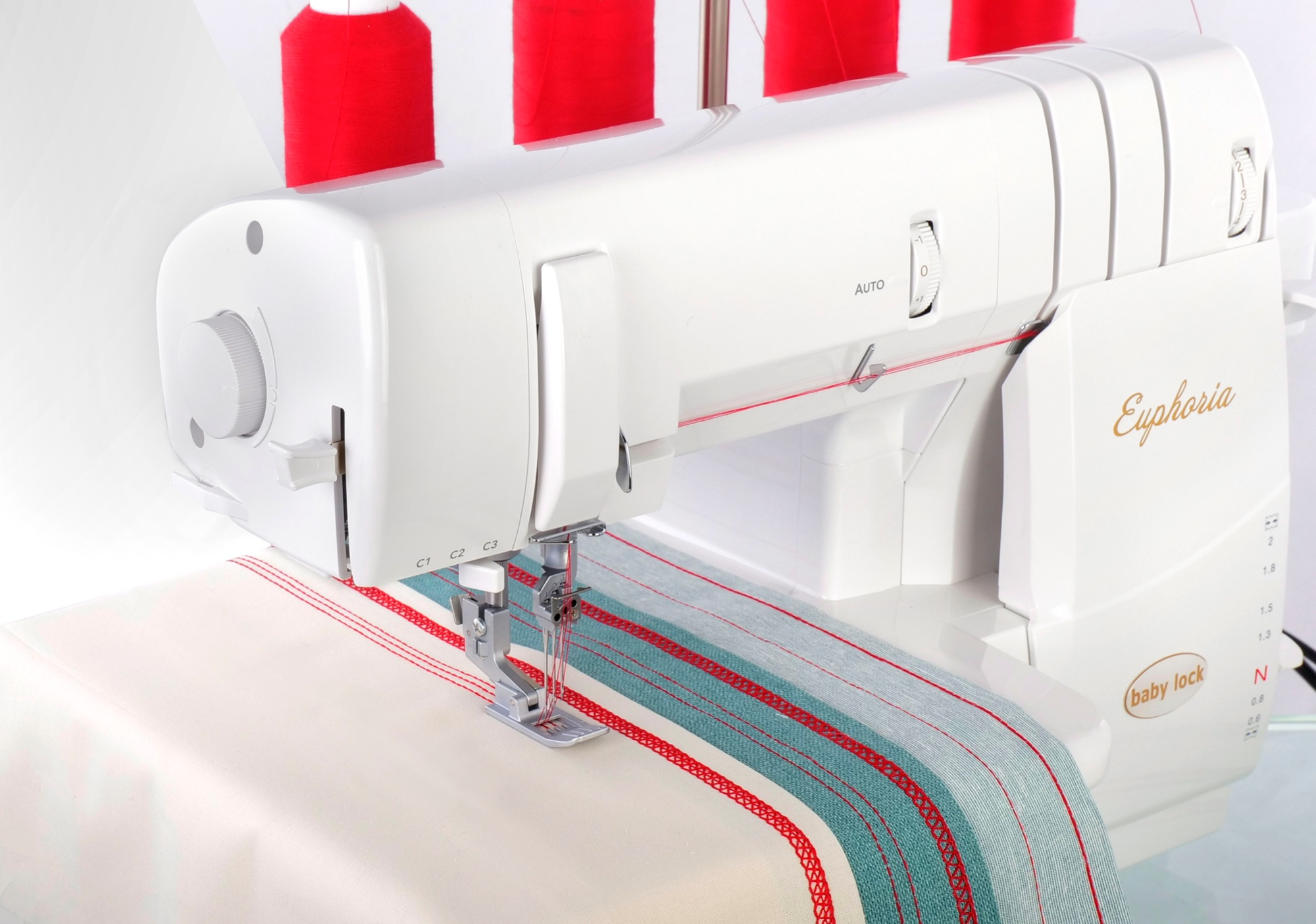 baby lock Euphoria chain stitch, double and triple coverstitch