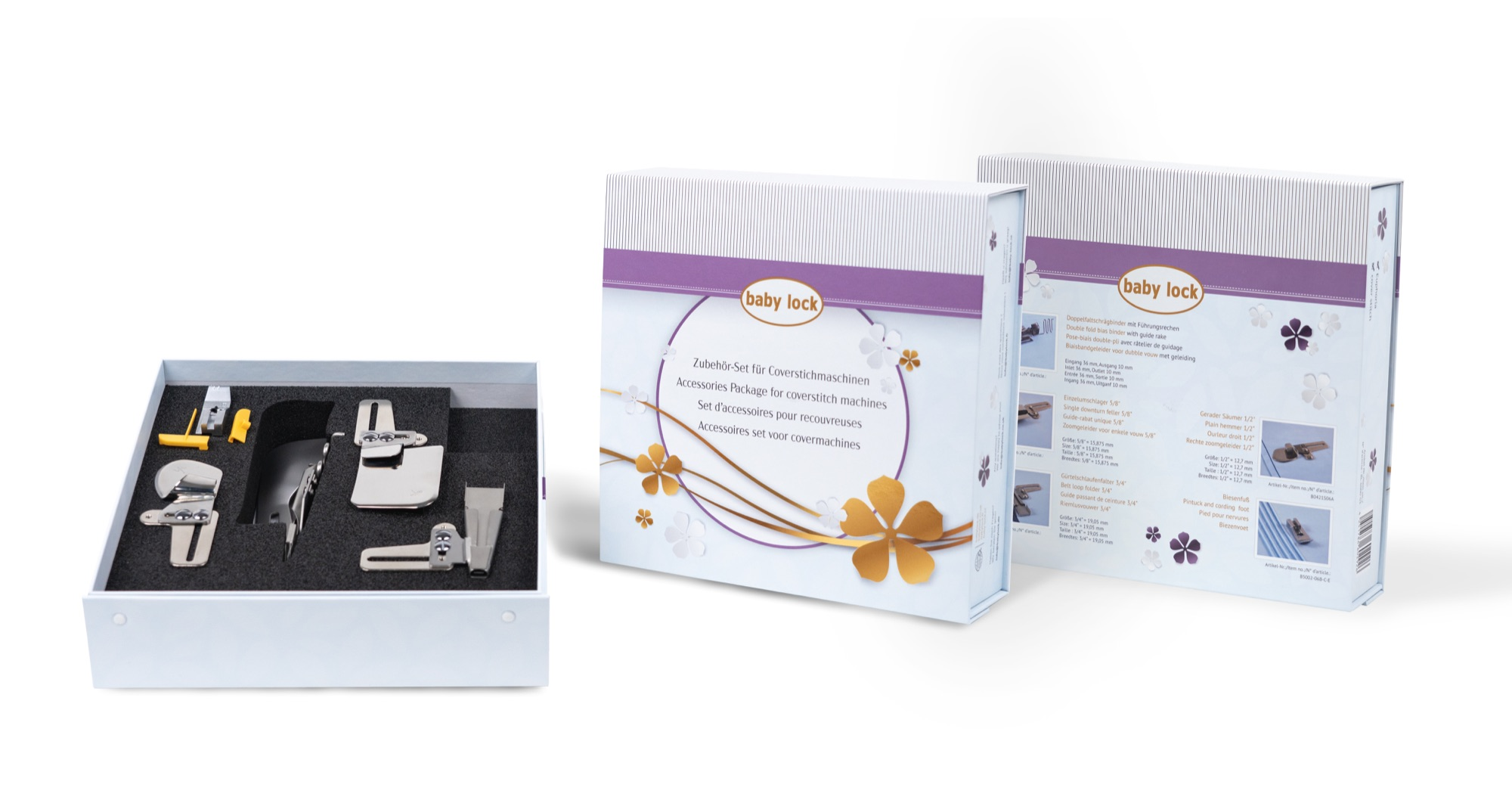 baby lock combination set for cover stitch machines