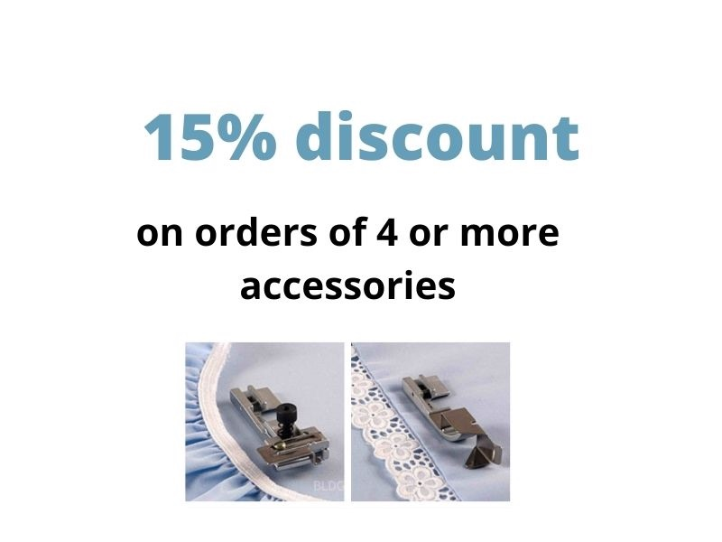 15% discount on orders of 4 or more feet