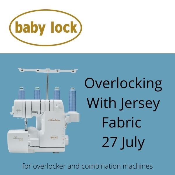 Overlocking with jersey fabric online workshop - Jane White Couture Tuition