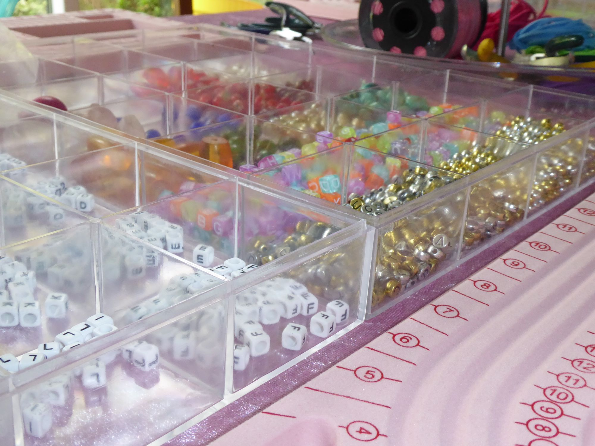 Bead trays - kids jewellery party