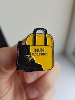 Mum Uniform Enamel Pin - 25% OFF