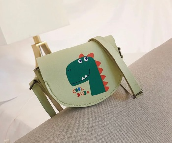 Light Green Dinosaur Crossbody Bag for Kids