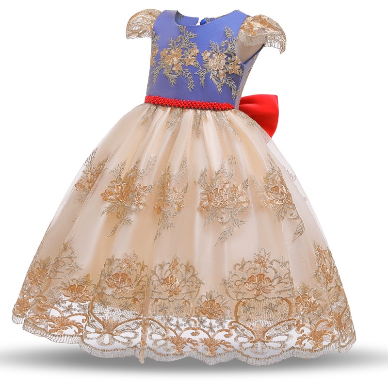 snow white girls party dress