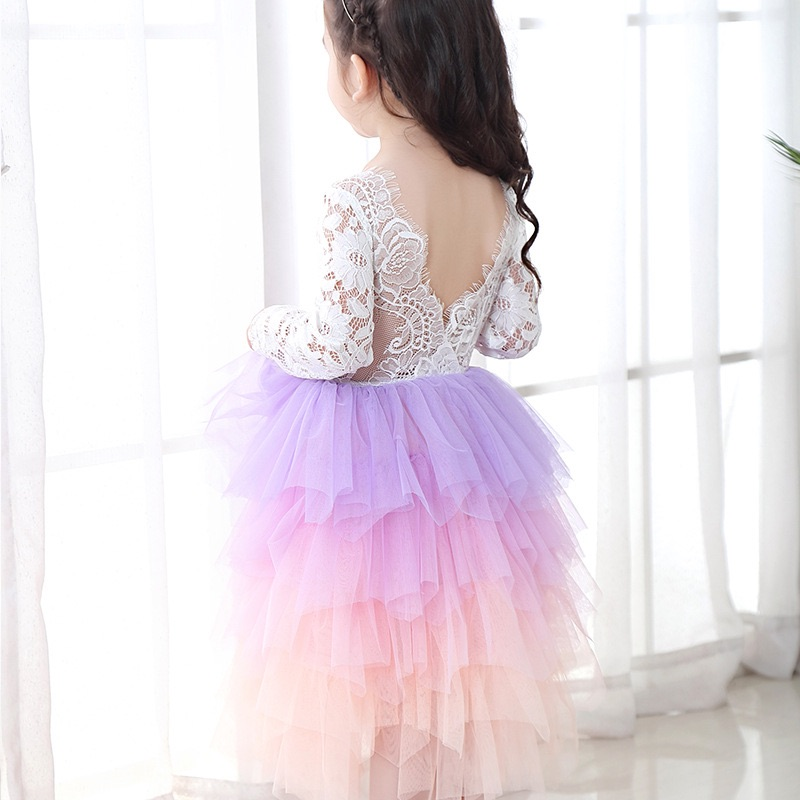pink and purple tulle dress