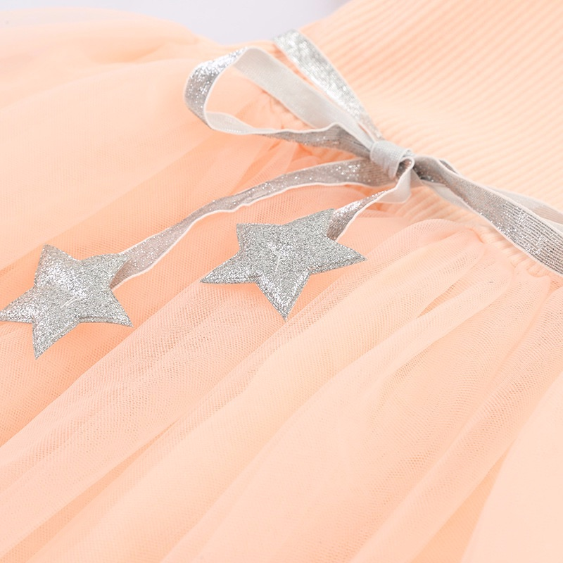 peach pink tulle dress for girls