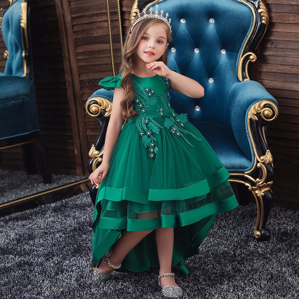 emerald green flower girl dress