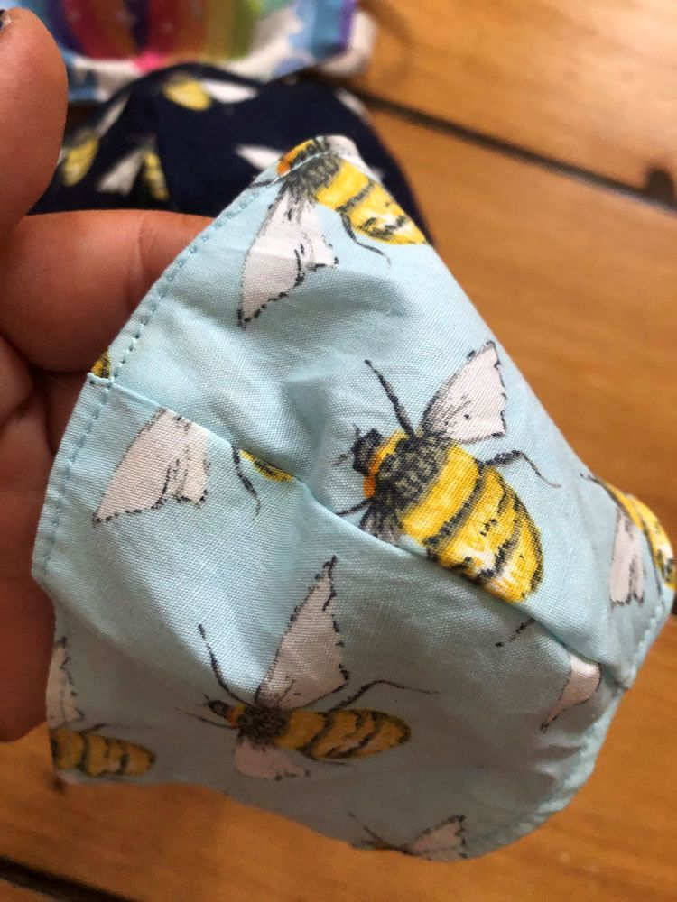 Mint Bee 100% Cotton Face Mask for 3-12 yr olds