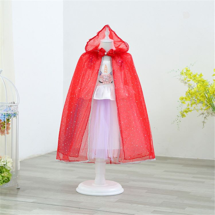 Little Red Riding Hood Hooded Cape (one size 5-12 yr olds)