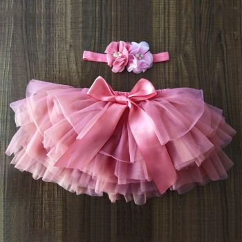 Reign - Pink Tutu & Hairband  - 6-12 m ONLY!