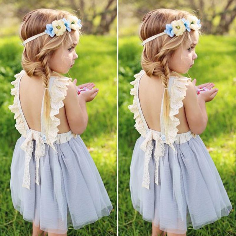 girls grey summer dress
