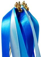 Royal Blue Ribbon Wish Wand with Bell