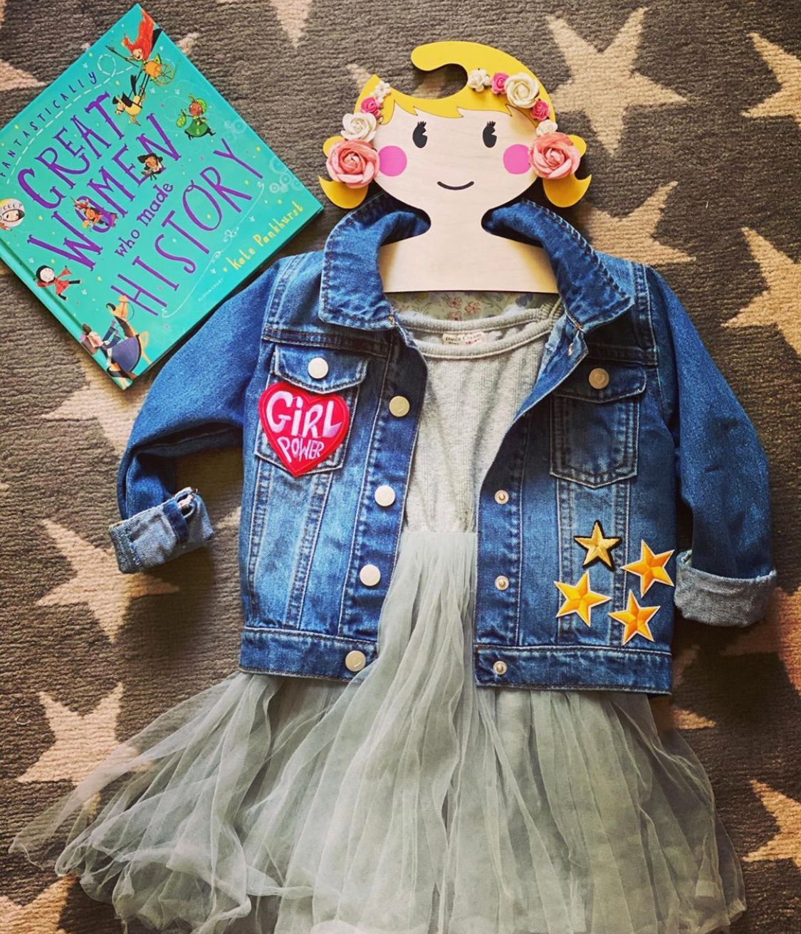 kids clothes flatlay