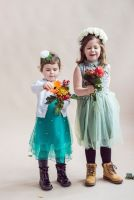 Eternity - Emerald Green Tulle Party Dress, Bridesmaid, Flower Girl Dress - Sizes 3-8 years
