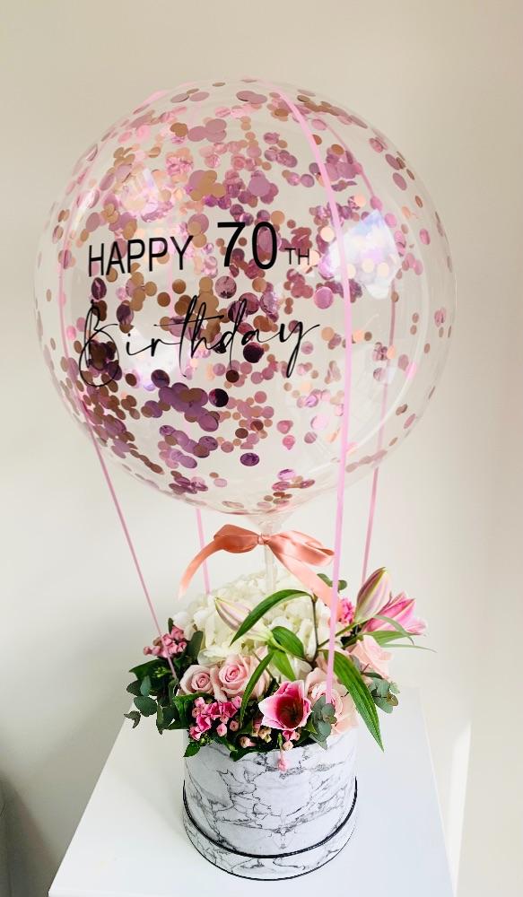 Hot Air Balloon Flower Boxes